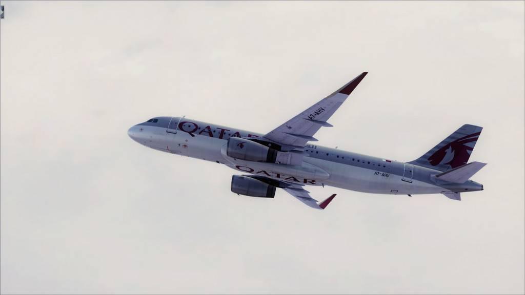 Qatar Airways A320-> Doha-Dubai OTBD-OMDB13