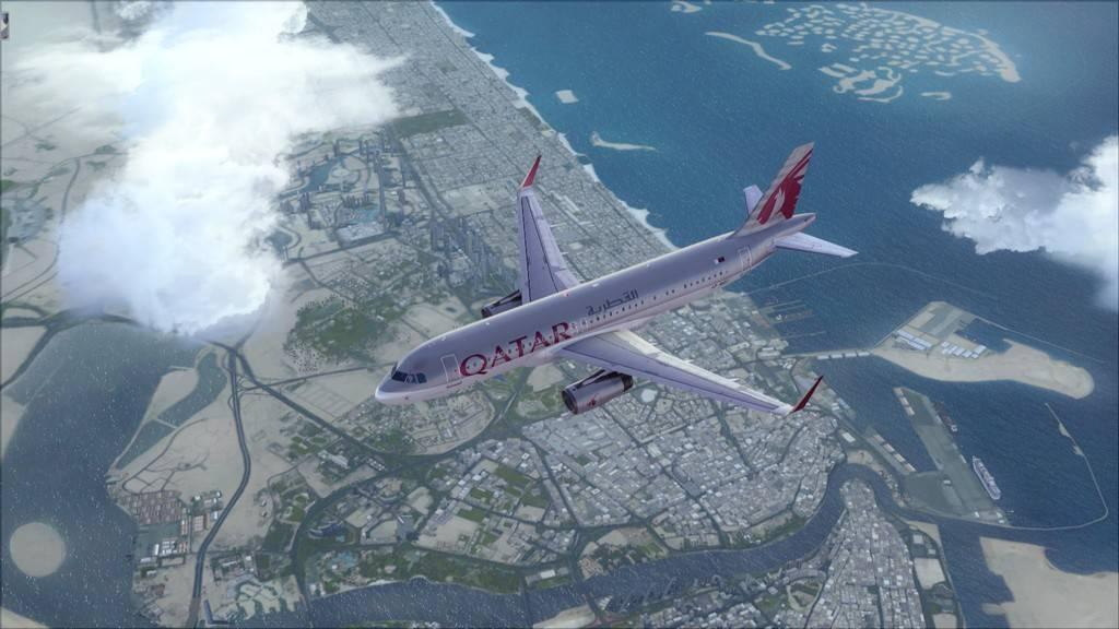 Qatar Airways A320-> Doha-Dubai OTBD-OMDB24