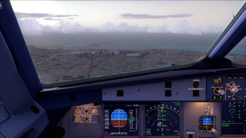 Qatar Airways A320-> Doha-Dubai OTBD-OMDB34