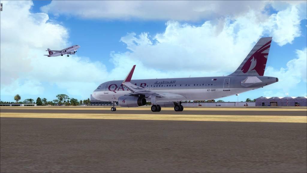 Qatar Airways A320-> Doha-Dubai OTBD-OMDB4