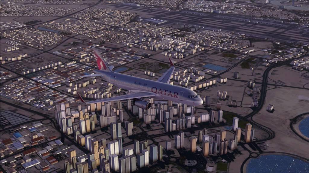 Qatar Airways A320-> Doha-Dubai OTBD-OMDB40