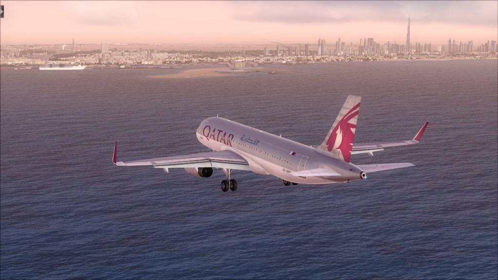 Qatar Airways A320-> Doha-Dubai OTBD-OMDB46