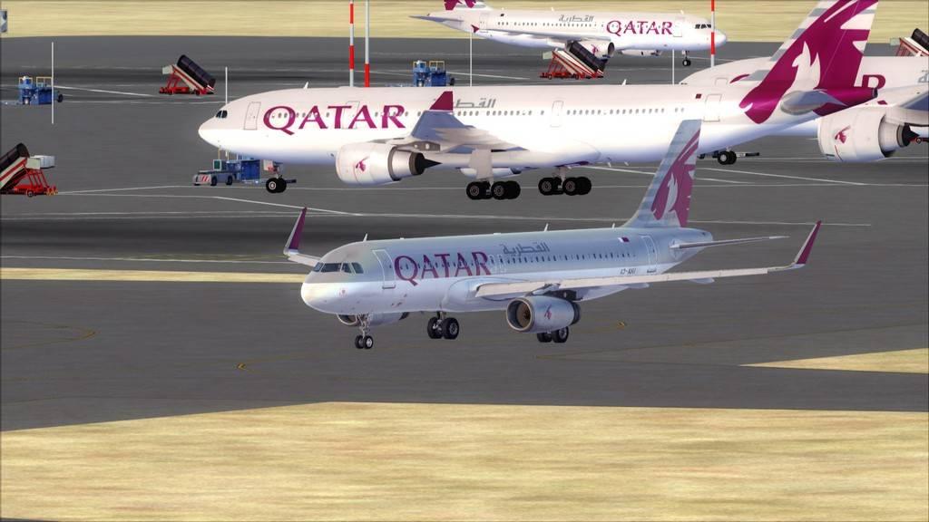 Qatar Airways A320-> Doha-Dubai OTBD-OMDB5