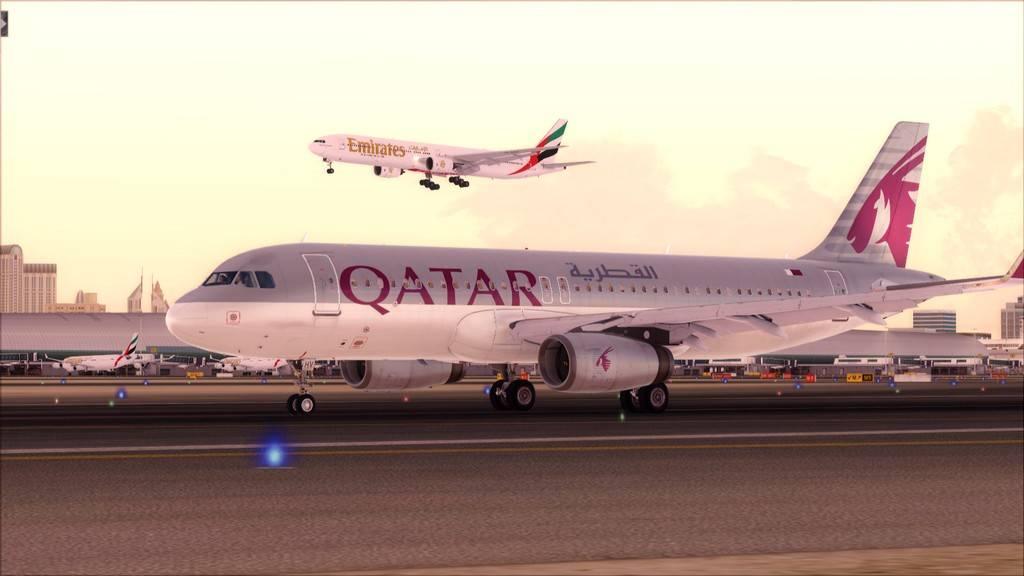 Qatar Airways A320-> Doha-Dubai OTBD-OMDB66
