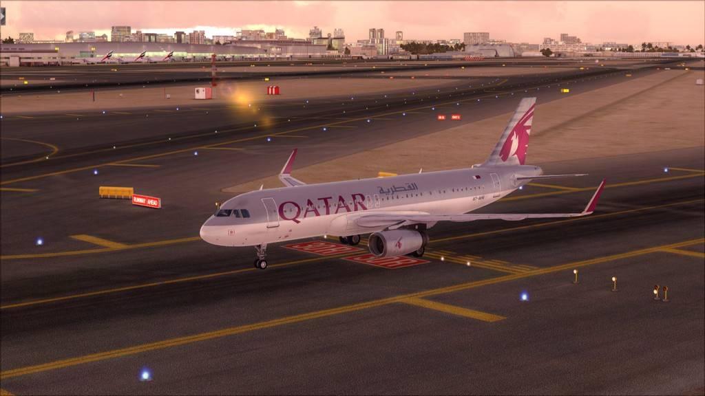 Qatar Airways A320-> Doha-Dubai OTBD-OMDB73