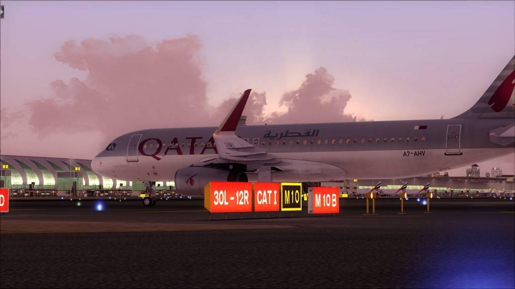 Qatar Airways A320-> Doha-Dubai OTBD-OMDB78