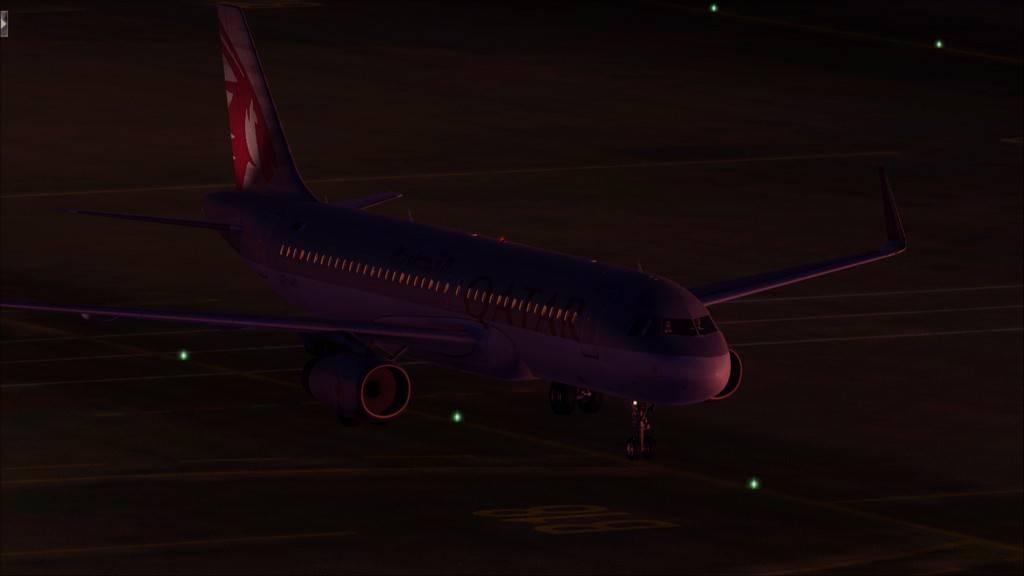 Qatar Airways A320-> Doha-Dubai OTBD-OMDB97