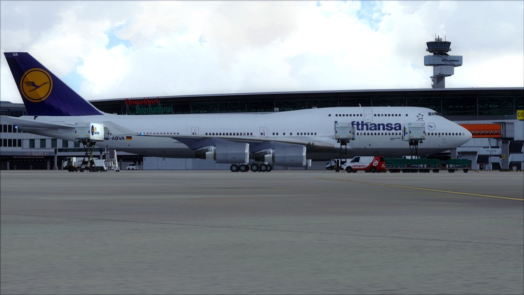 B744 Lufthansa->Bate e Volta EDDL-OMDB EDDL-OMDB