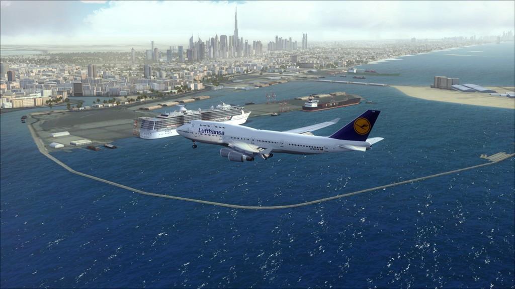 B744 Lufthansa->Bate e Volta EDDL-OMDB EDDL-OMDB6