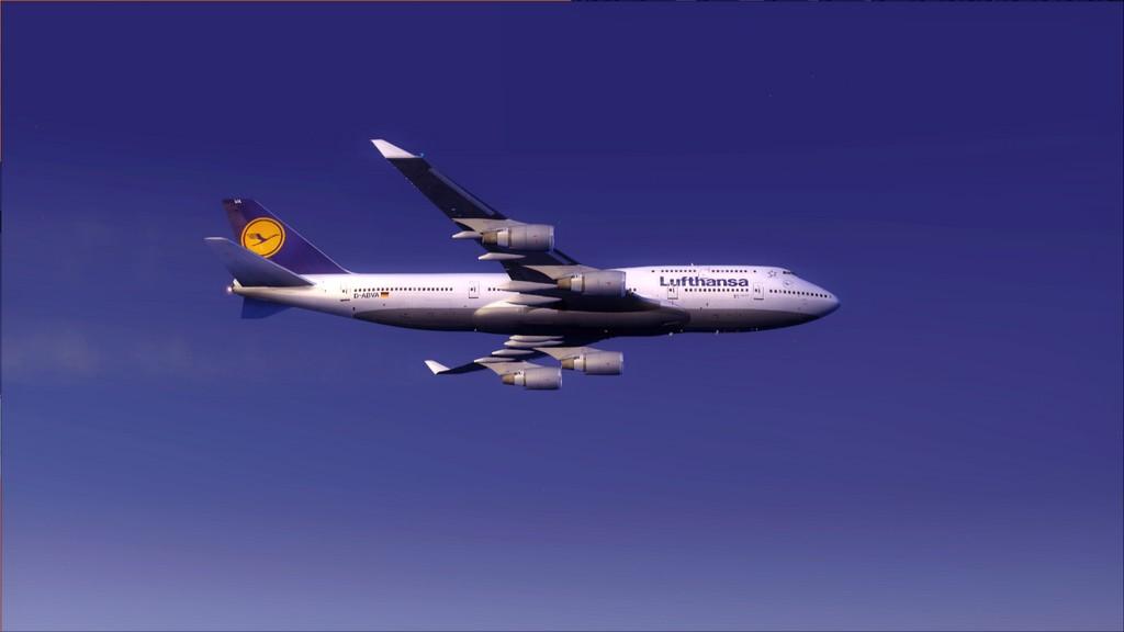 B744 Lufthansa->Bate e Volta EDDL-OMDB OMDB-EDDL5