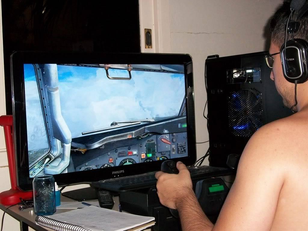 """Eu e meu """"cockpit"""" ParaoVV1"""