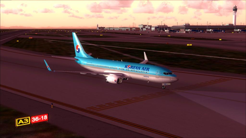 B738 Korean Air -> Seul-Nagoya RKSI-RJGG16