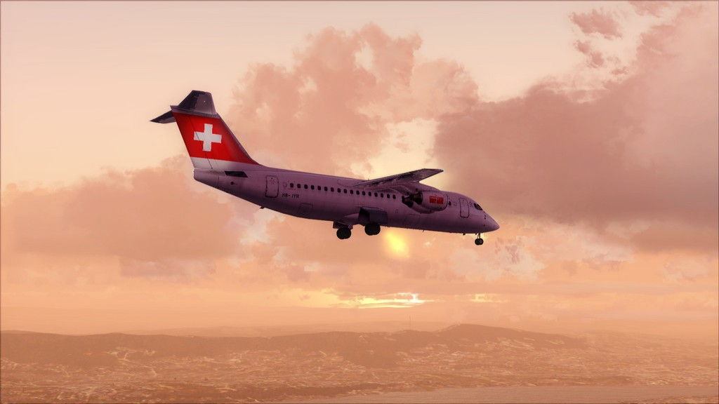 Quality Wings Avro. Algumas imagens EDDM-LSZH15