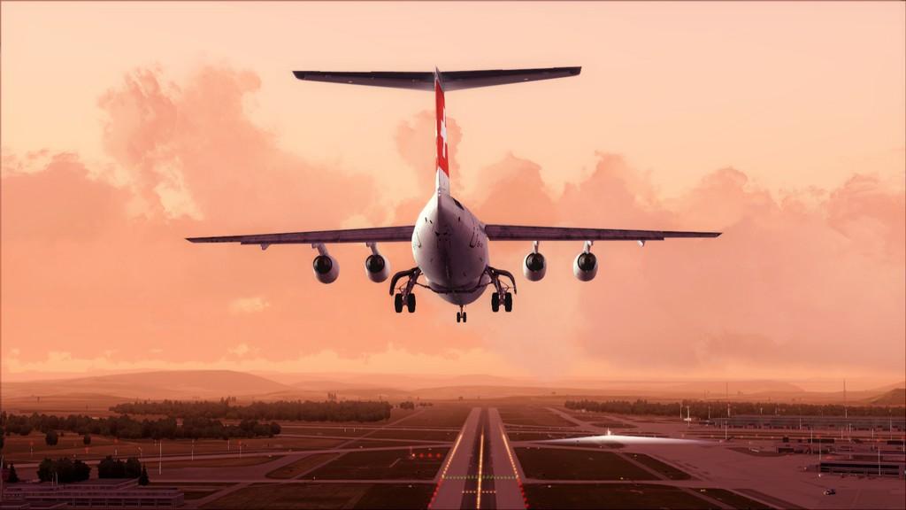 Quality Wings Avro. Algumas imagens EDDM-LSZH17