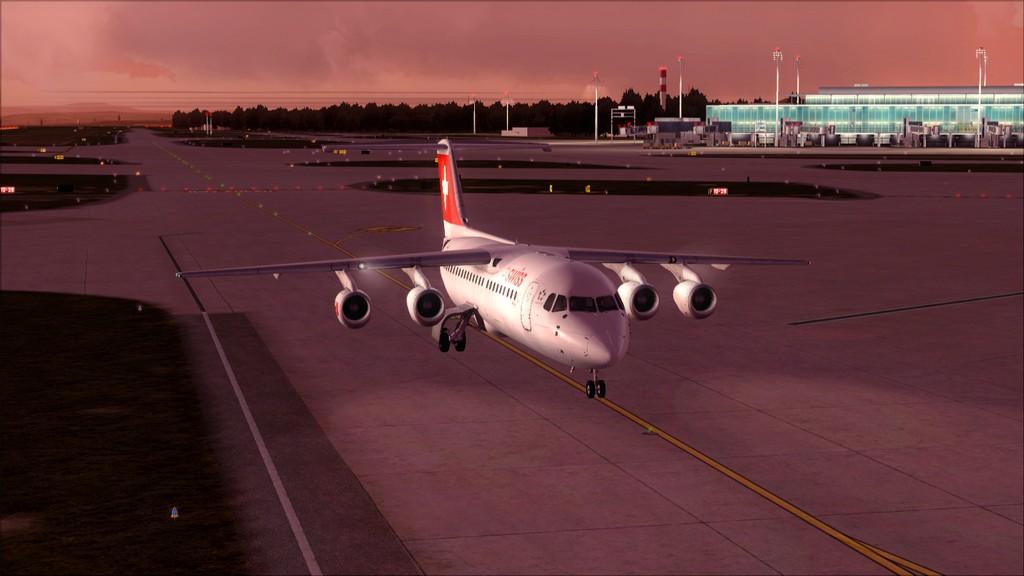 Quality Wings Avro. Algumas imagens EDDM-LSZH19