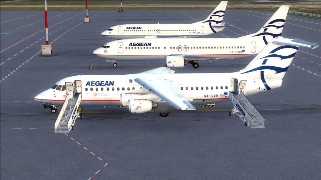 Quality Wings Avro. Algumas imagens LGIR-LGAV70