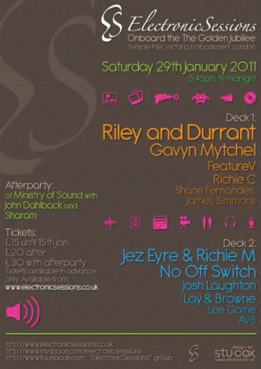 [lnd] Electronic Sessions Boat Party, Ministry Afterparty... ESFlyerJan2011