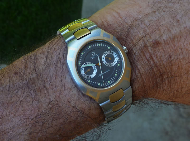 L'Omega Seamaster Titane Polaris-wrist1