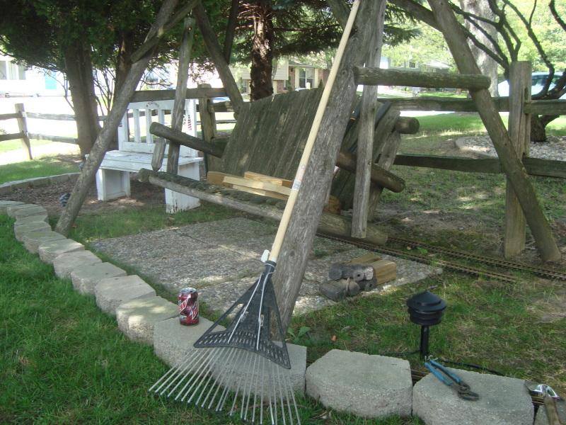 My new garden line under construction Gardenrailway004
