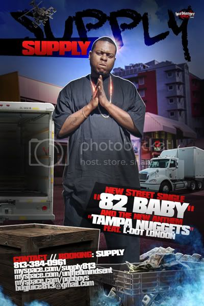 """Tampa Artist:  SUPPLY ...new single """"82 BABY """" PROOF1-2"""