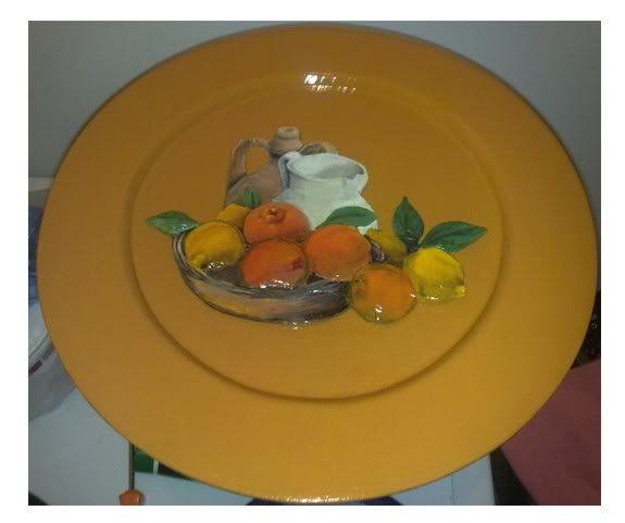 Piatto con decoupage 3d Piattodecoupage
