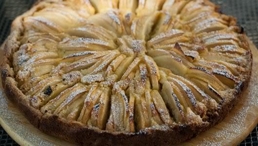 [Ý - Italian][Recipe] Crostata di Mele con Frangipane - Bánh nướng táo với kem hạnh nhân Apple-tart