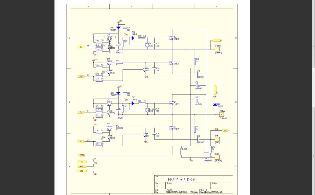 Doublage de la puissance d'un contrôleur 6 fets Eb306