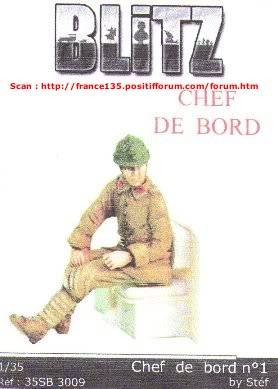 "Figurine ""Chef de bord (N°1)"". Blitz, ref 35SB-3009. 1/35. Résine. BLITZ1-35CHEFDEBORDREF35SB3009_01"
