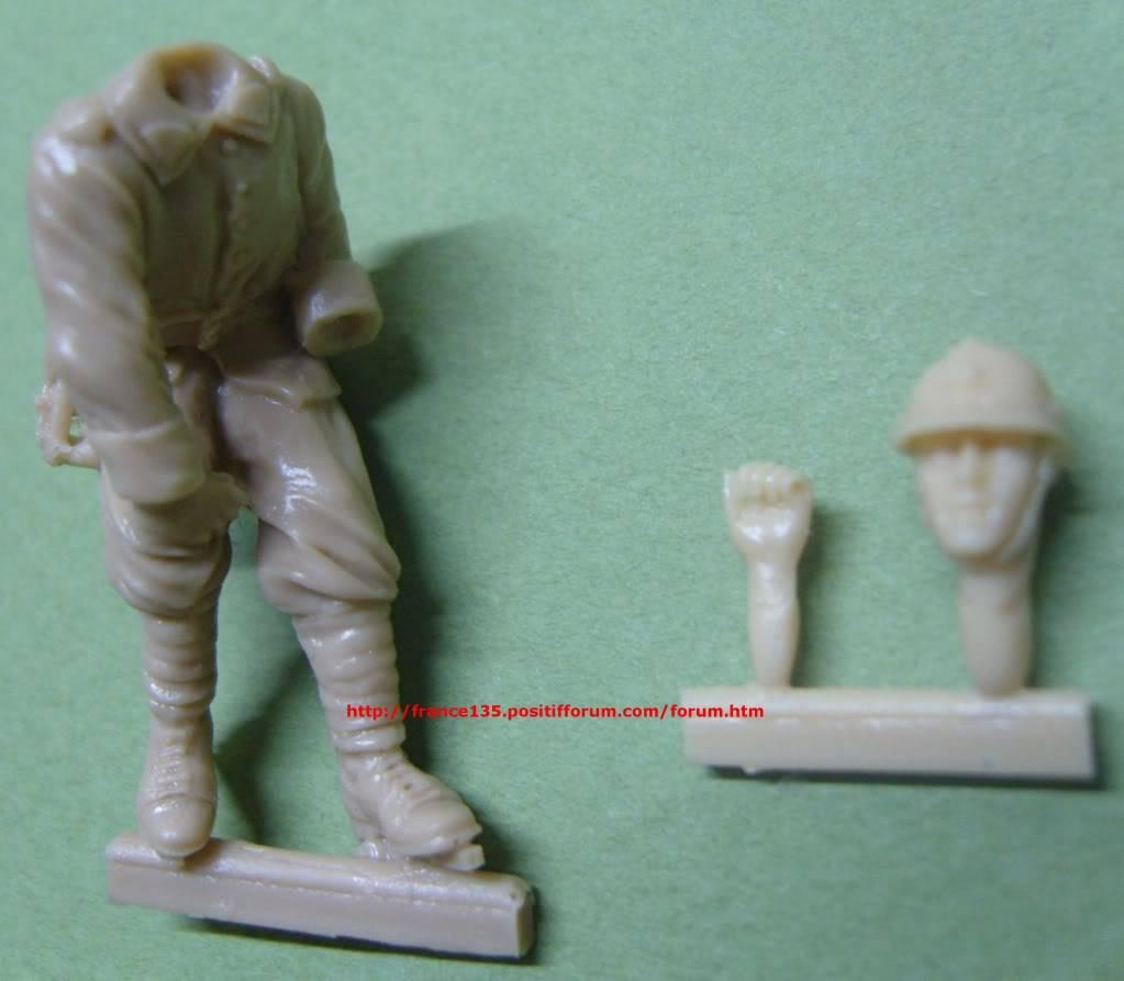 "Figurine ""Chef de bord (N°1)"". Blitz, ref 35SB-3009. 1/35. Résine. BLITZ1-35CHEFDEBORDREF35SB3009_02"