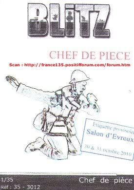 """Figurine """"Chef de pièce"""". Blitz, ref 35-3012. Résine. BLITZ1-35CHEFDEPIECEREF35-3012_01"""