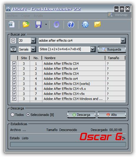 Crack Downloader 2.2 - Programa para buscar seriales CrackDownloader2