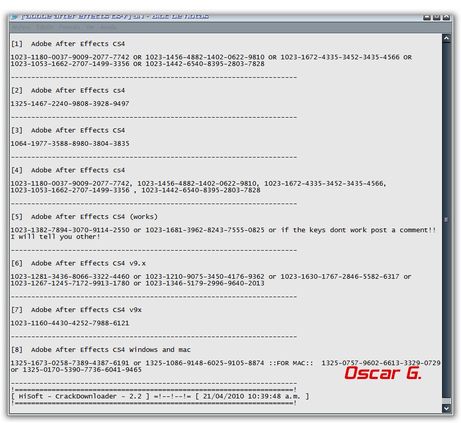 Crack Downloader 2.2 - Programa para buscar seriales Resultadoserial