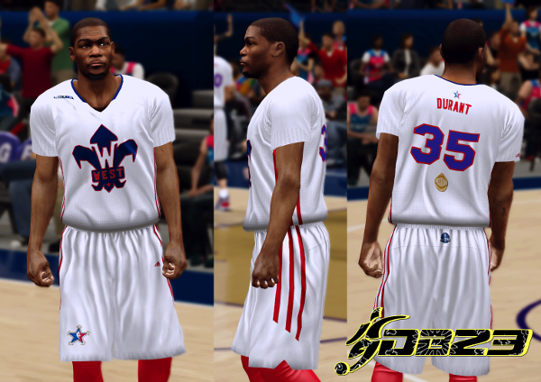 NBA 2K14 Official Jersey/Court of All-Star 2014 WestHome_zps299b22e4