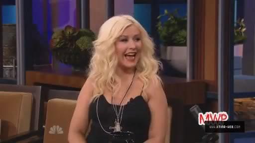 Christina on Jay Leno + her & Max! JayLeno-April25th2011