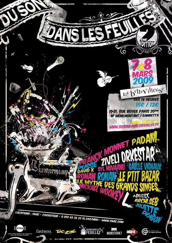 Festival DU SON DANS LES FEUILLES 2009 Affiche_A4_72