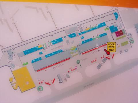 Aeroporto de Brasília Mapa-bsb