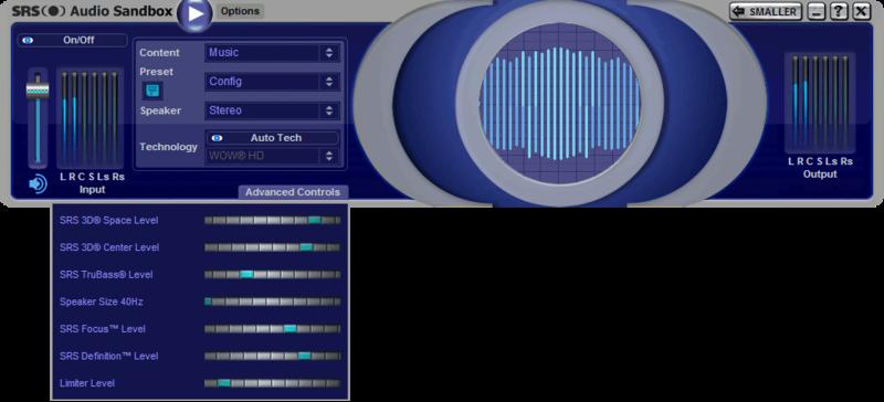 تحميل برنامج SRS Audio Sandbox  لتضخيم الصوت Srs