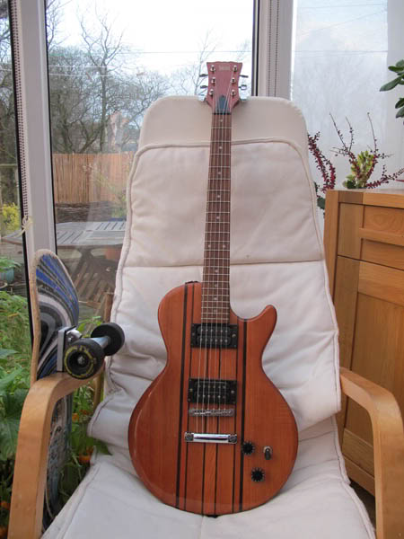 guitar - Hondo LP Style Guitar, solid woods, nice neck. HondoModdedFront