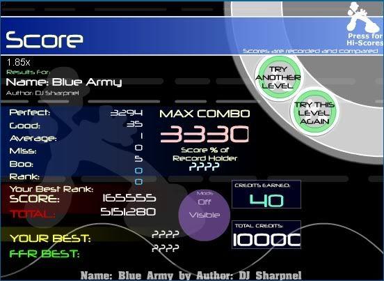 Post your FFR Scores here! - Page 4 Bluearmyvidscore