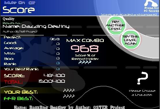 ~Z~ FFR Scores. DazzlingDestinyAAA