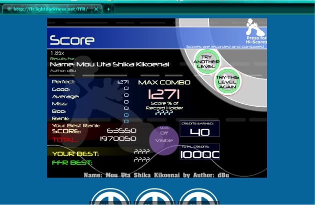 ~Z~ FFR Scores. MouUtaShikaKikoenaiAAA