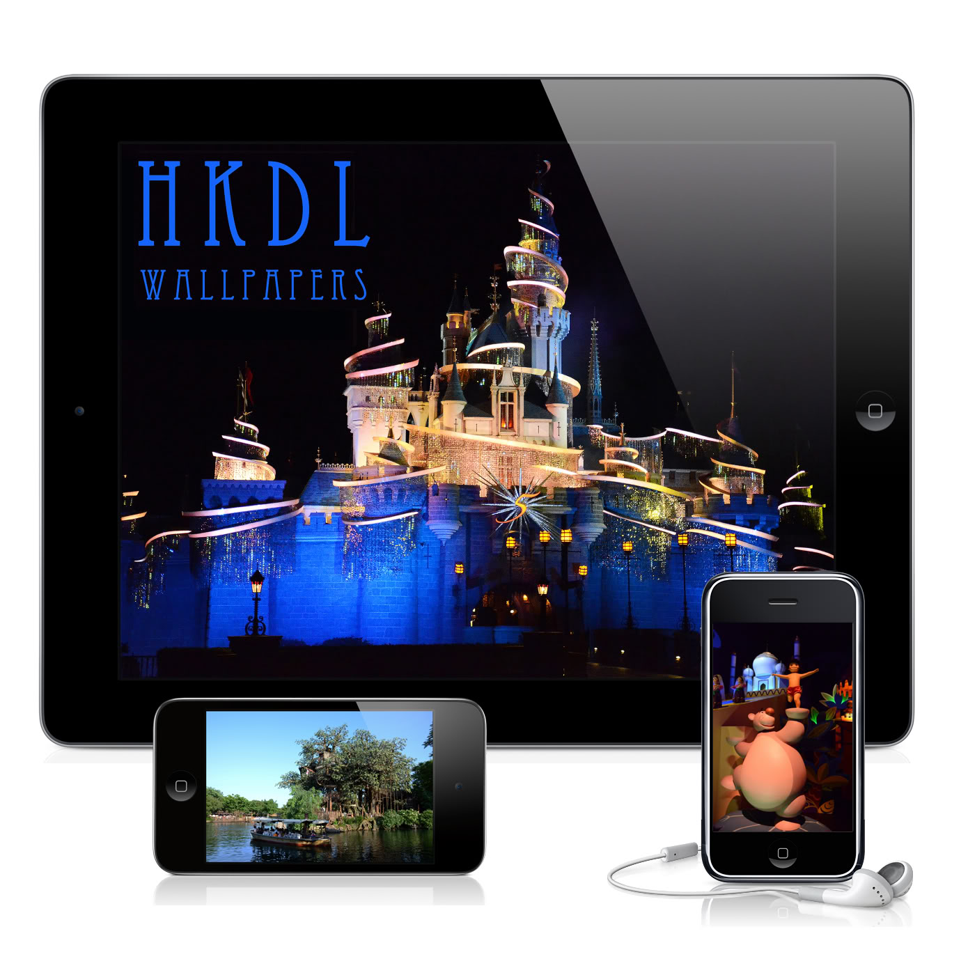 Nouvelle application iPhone sur Hong Kong Disneyland avec 206 photos Pubsanstexte
