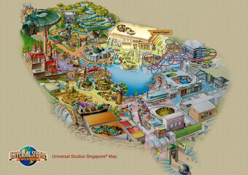 [Singapour] Universal Studios Singapore (2010) - Page 2 Egyptmap1