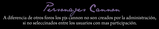 Personajes Cannon