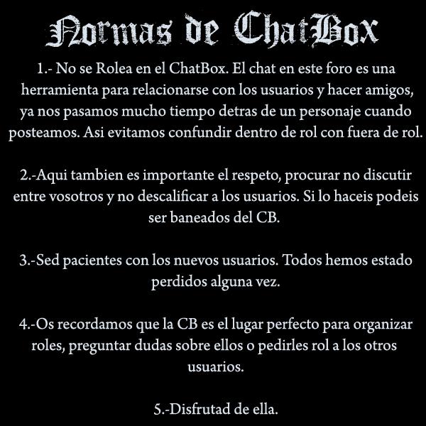 Normas del Chat Box Cb