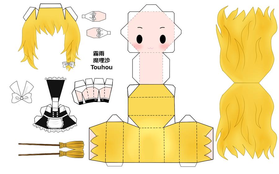 "Touhou Papercraft - Chơi figure kiểu ""con nhà nghèo"" Touhou_Marisa_Papercraft_by_desubunny"
