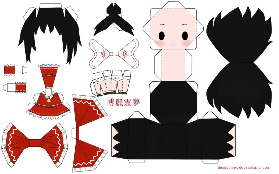"Touhou Papercraft - Chơi figure kiểu ""con nhà nghèo"" Touhou_Reimu_Papercraft_by_desubunny"
