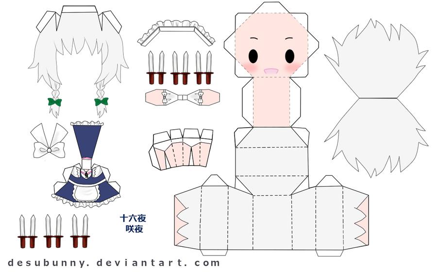 "Touhou Papercraft - Chơi figure kiểu ""con nhà nghèo"" Touhou_Sakuya_Papercraft_by_desubunny"
