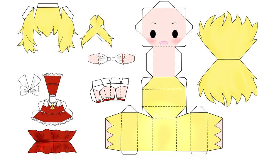 "Touhou Papercraft - Chơi figure kiểu ""con nhà nghèo"" Touhou_Scarlet_Flandre_Paper_by_desubunny"