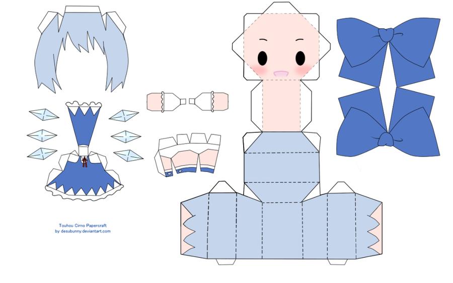 """Touhou Papercraft - Chơi figure kiểu """"con nhà nghèo"""" Chibi_cirno_papercraft_by_desubunny-d3xk9ka"""